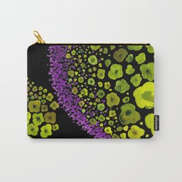 Paths of Color [green & purple] Carry-All Pouch