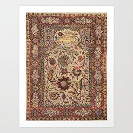 Safavid Silk Metal-Thread Persian Rug Print Kunstdrucke