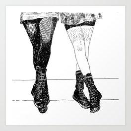 Combat boots Art Print