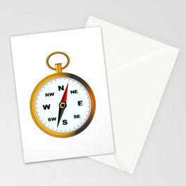 Golden Compas Stationery Cards