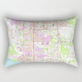 Vintage Map of Bradenton Florida (1964) Rectangular Pillow