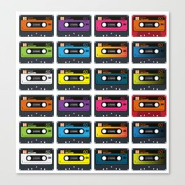 Vintage audio tape Canvas Print
