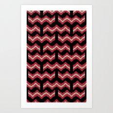 8 Bit Bacon  Art Print