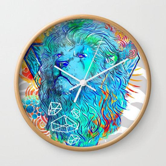 Fire Lion Wall Clock