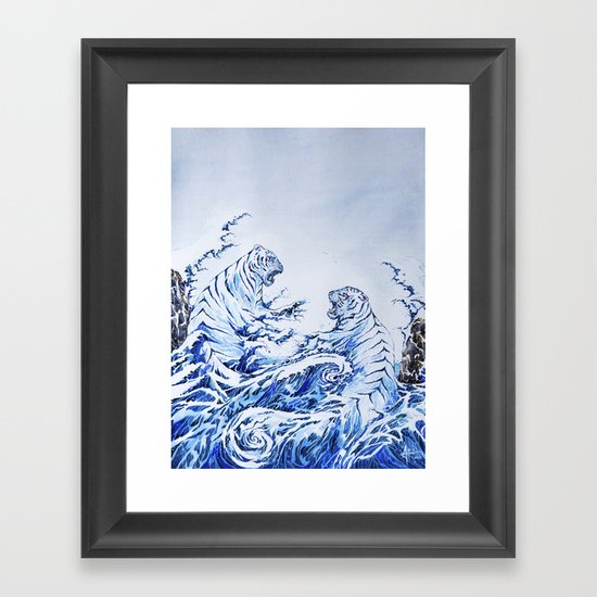 The Crashing Waves Framed Art Print