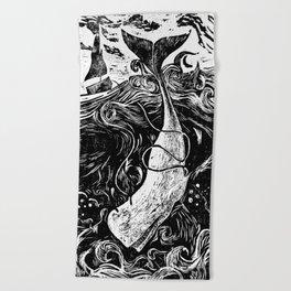 Moby Dick Wood Cut Beach Towel