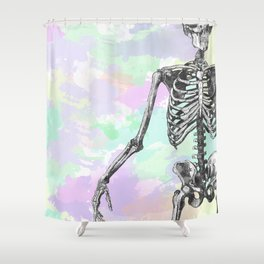 Groove Skeleton Shower Curtain