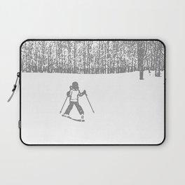 Little Skier II Grey Laptop Sleeve