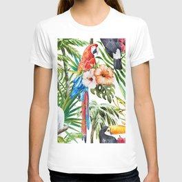 Tropical Bird Pattern 06 T-shirt