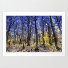 The Forest Van Gogh Art Print