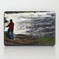 spawn iPad Cases featuring Salmon Jump by Michael Hewitt