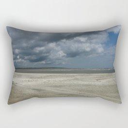Dramatic Sky Over Golden Isles Beach Rectangular Pillow