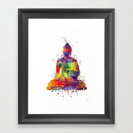 Buddha Watercolor Yoga Poster Zen decor Framed Art Print
