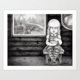 """The Porridge Thief"" (Goldilocks) Art Print"