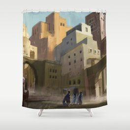 Fantasy Moroccan City Shower Curtain