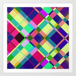 Pastel Interaction Art Print