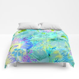 abstract floral Comforters