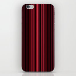 Red 3D Stripes iPhone Skin