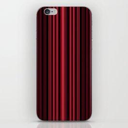 Red 3D Stripes iPhone Skin