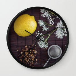 Lemon and tea Wall Clock