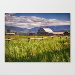 Mormon Row - Grand Teton National Park, Wyoming Canvas Print