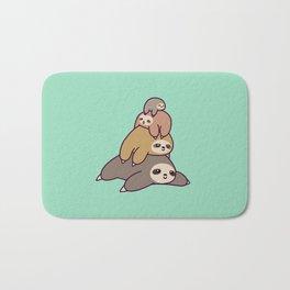 Sloth Stack Bath Mat