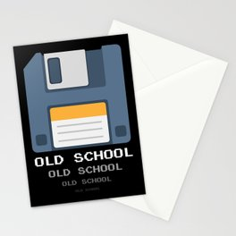 Old School Computer Floppy Diskette Stationery Cards