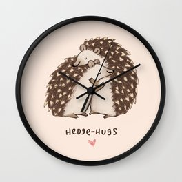 Hedge-hugs Wall Clock