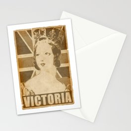 Victoria Queen Of England Uinon Jack Stationery Cards
