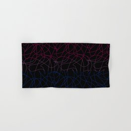 Abstract Threads – Bisexual Pride Flag Hand & Bath Towel