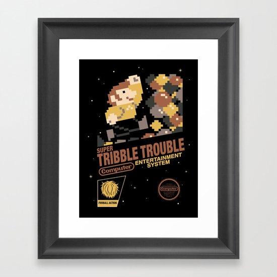 Super Tribble Trouble Framed Art Print