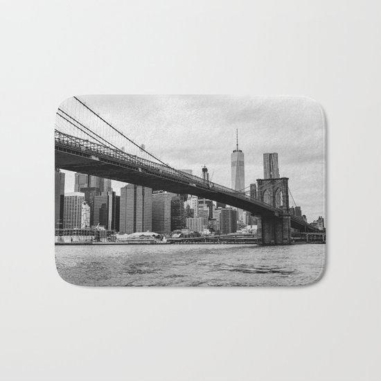 Monochrome Manhattan Bath Mat