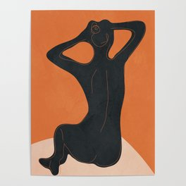 Abstract Nude I Poster