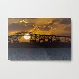 Sunset in Lake Charles, Louisiana Metal Print