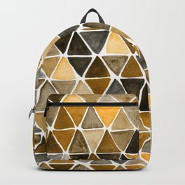 Earthy Triangles Backpack