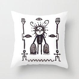Grumpy Totem Throw Pillow