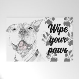 A Smile is Worth a Thousand Words :: A Pit Bull Smile Welcome Mat