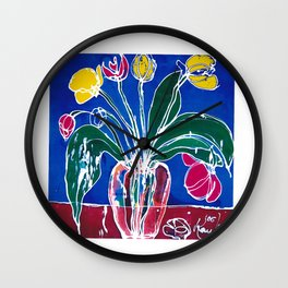 Tulip Time          by Kay Lipton Wall Clock
