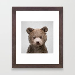 Baby Bear - Colorful Framed Art Print
