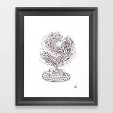 the music maker Framed Art Print