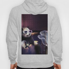 Panda With 3D Glasses Watching 3D Horror Movie Hoody