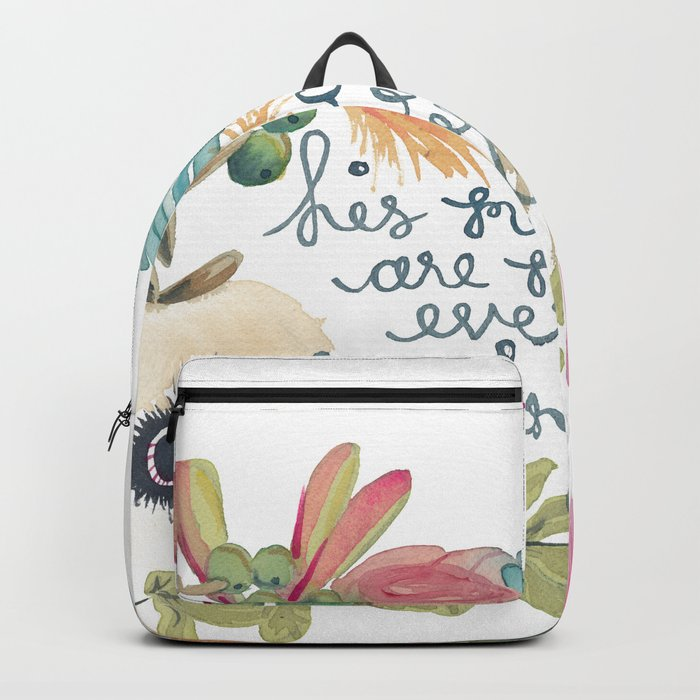His Mercies are New Backpack