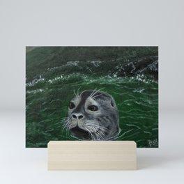 Slate Seal Miniature Mini Art Print