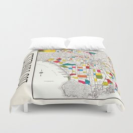 Los Angeles Streets Duvet Cover