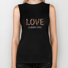 Top Fun Giraffe Lover Gift Design Biker Tank