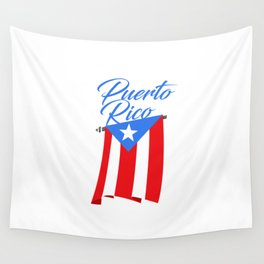 Big Puerto Rico Flag Wall Tapestry