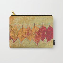 Abstract Dots Dried Leaves Carry-All Pouch