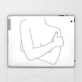 Woman's figure line drawing artwork - Dara Laptop & iPad Skin