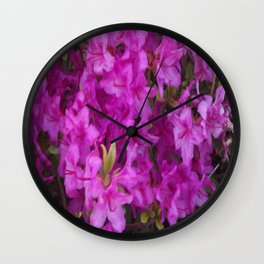 Pink Flowers 2 Wall Clock