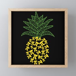 Pi-Neapple Pineapple Framed Mini Art Print